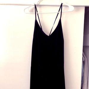Black Velvet Spagetti Strap Dress
